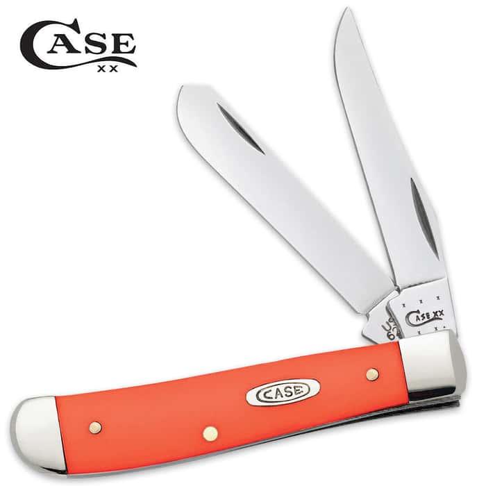 Case Orange Synthetic Mini Trapper Folding Pocket Knife