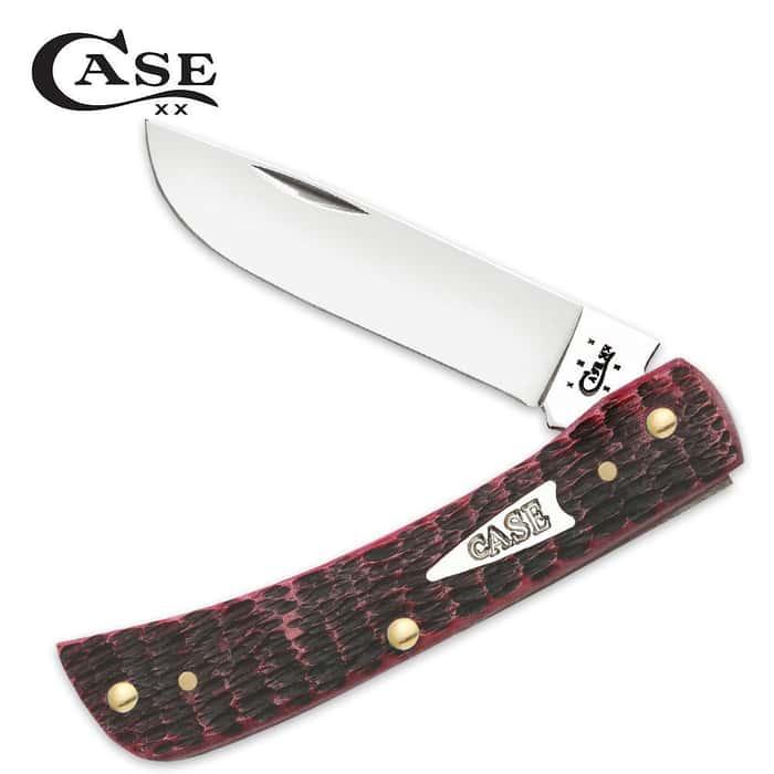 Case Tru-Sharp Surgical Steel Raspberry Bone Sod Buster Folding Pocket Knife