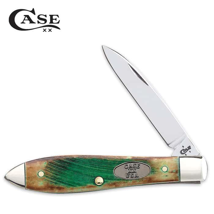 Case Sawcut Clover Bone Teardrop Pocket Knife