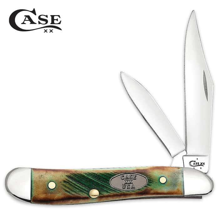 Case Sawcut Clover Bone Peanut Pocket Knife