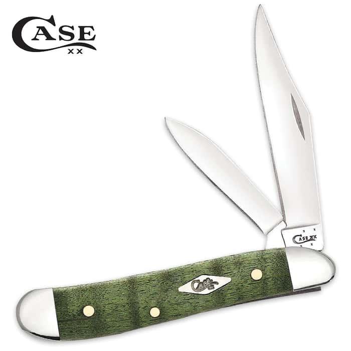 Case Green Curly Maple Peanut Pocket Knife