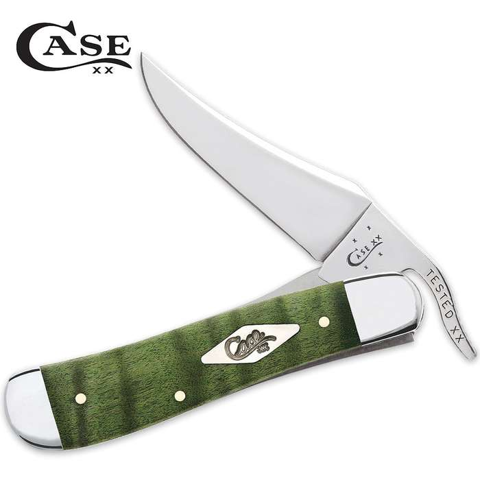 Case Green Curly Maple Russlock Pocket Knife
