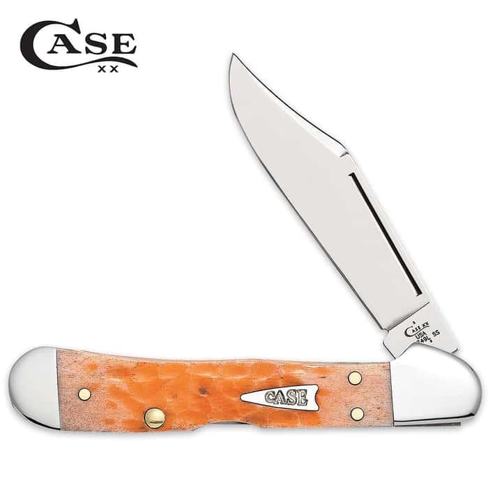 Case Peach Bone Mini Copperlock Pocket Knife