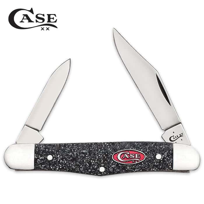 Case Silver Stardust Kirinite Half Whittler Pocket Knife