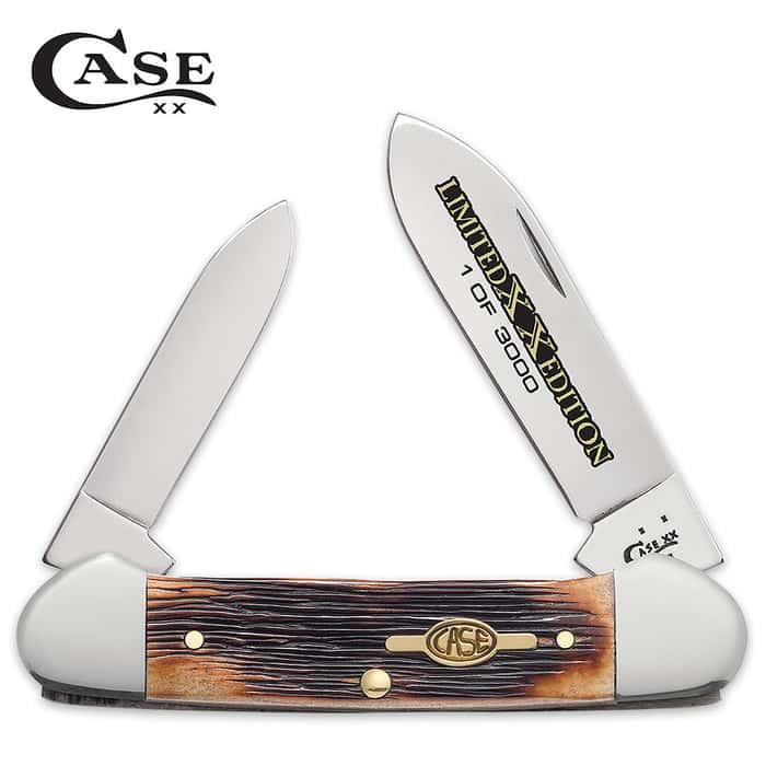 Case Limited Edition Burnt Barnboard Brown Bone Canoe Pocket Knife
