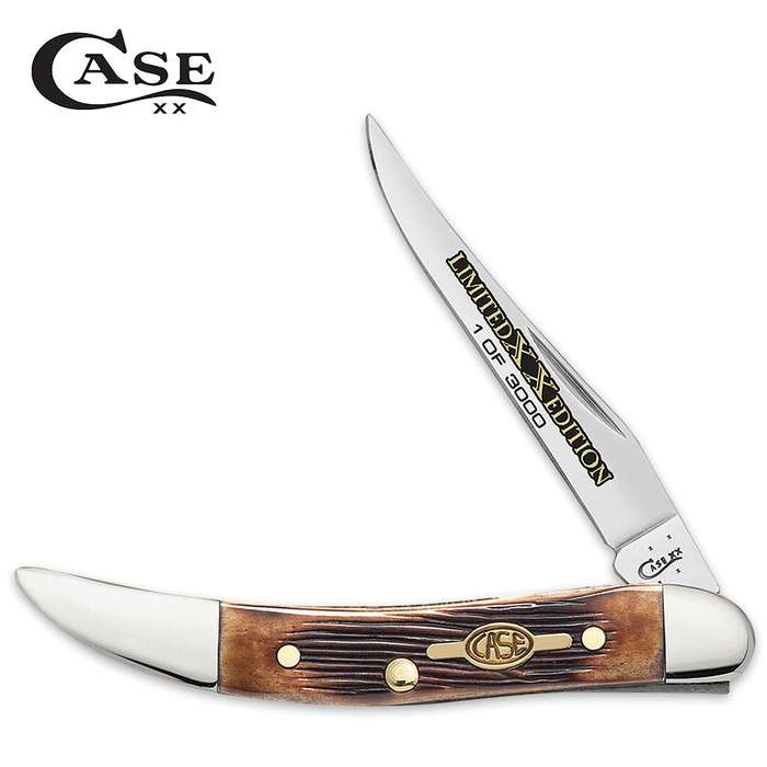Case Limited Edition Burnt Barnboard Brown Bone Small Texas Toothpick Pocket Knife