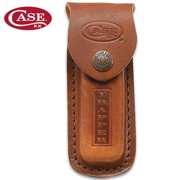 Case Trapper Pocket Knife Leather Sheath