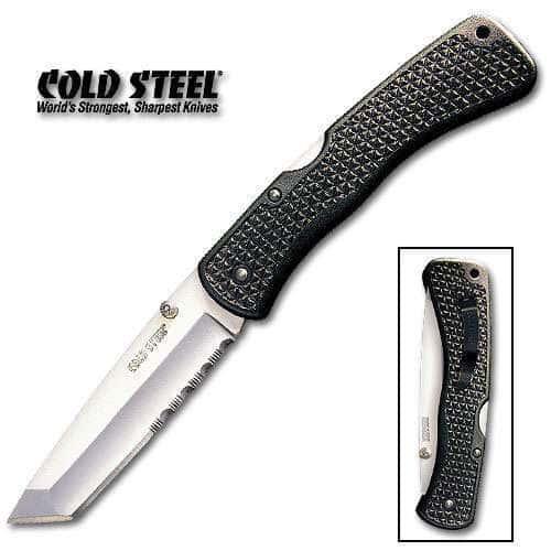 Cold Steel Large Voyager Tanto Half Serrated Folding Knife