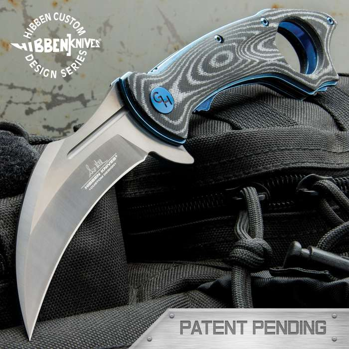 The Hibben Raven Karambit is so eye-catching yet so completely functional, as you've come to expect with a Gil Hibben original