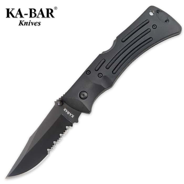 KA-BAR Serrated Mule Pocket Knife with Cordura Sheath