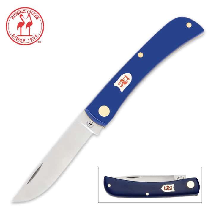 Kissing CranePocket Farmer Pocket Knife Blue