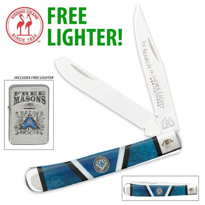 Kissing Crane Masonic Trapper & FREE LIGHTER!