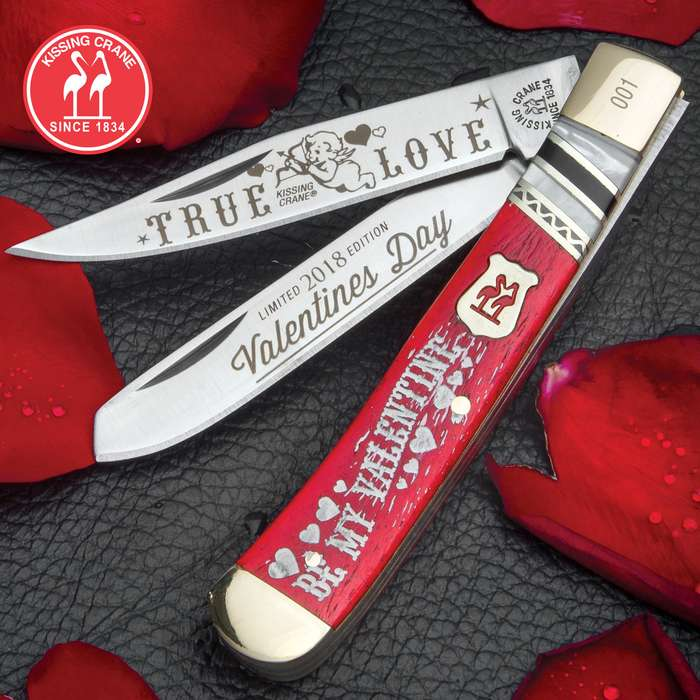 Kissing Crane 2018 Valentine's Day Trapper Knife