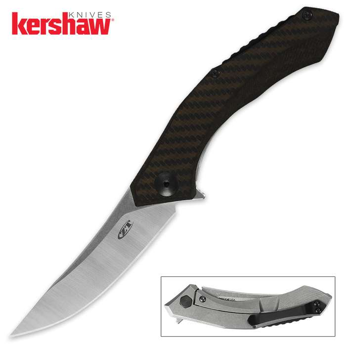Kershaw Sinkevich Bronze Carbon And Titanium Knife