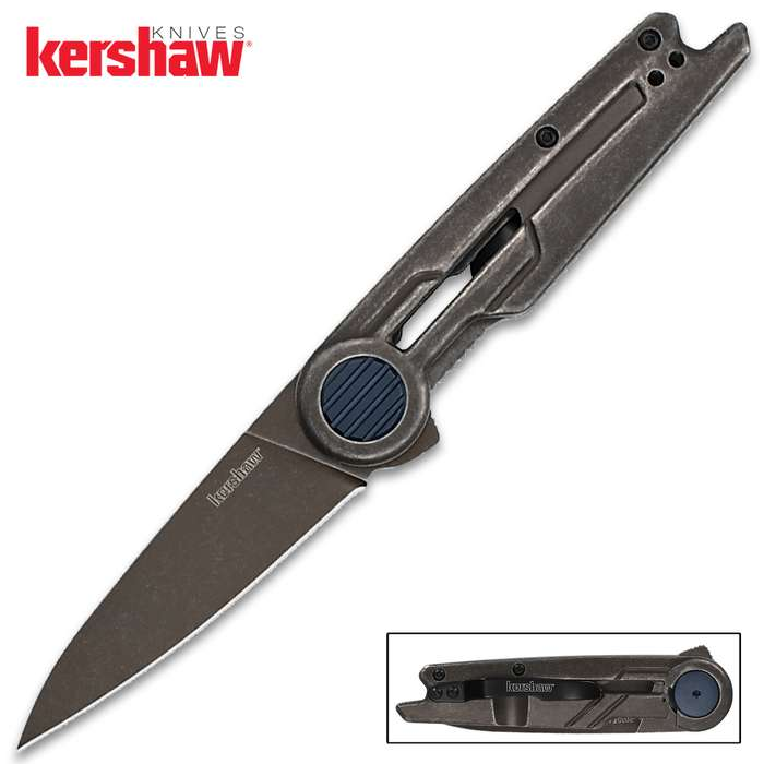 With a modern aesthetic and sharp performance, the Kershaw Parsec Pocket Knife is light years ahead in style and function