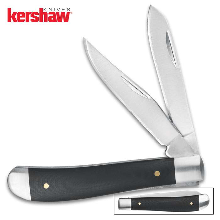 The Kershaw Gadsden pocket knife is a classic, two-bladed, slip joint pocket knife