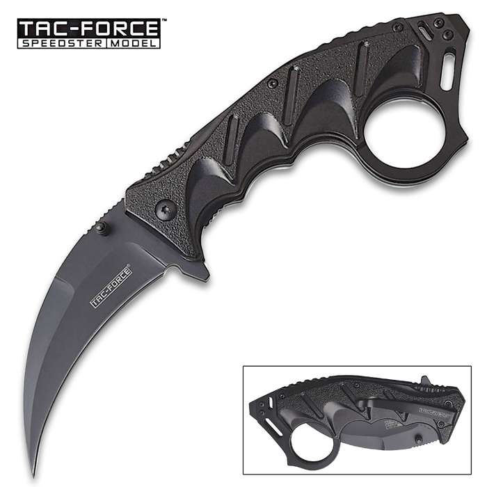 Folding Claw Karambit Knife - 3Cr13 Stainless Steel Blade, Anodized Aluminum Handle, Flathead Screwdriver - Length 8""