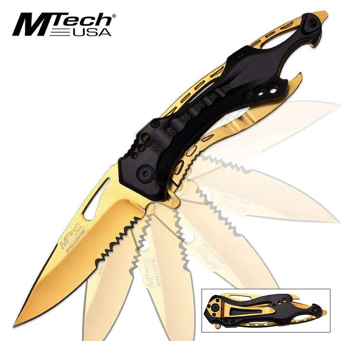 MTech USA Gold Ballistic Assisted Opening Pocket Knife