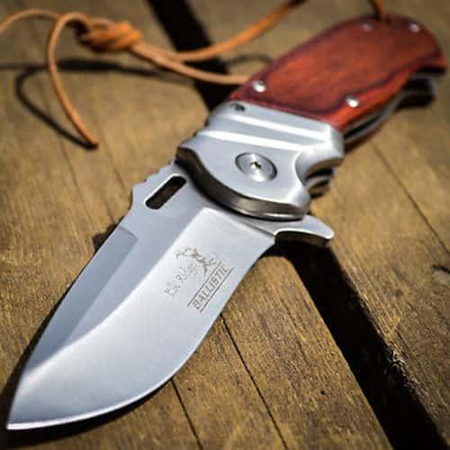 """8"""" ELK RIDGE Wood Gentleman SPRING ASSISTED OPEN Hunting Folding POCKET KNIFE"""