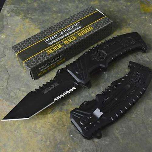 Tac-Force Spring Assist Challenger Tanto Combo Edge Folding Knife