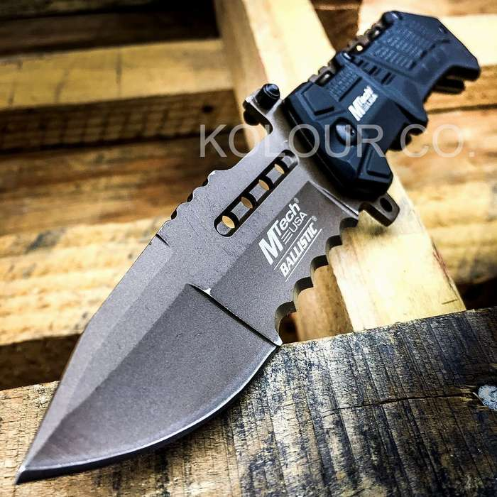 "8.5"" Spring Assisted Open Folding Pocket Knife Military Bowie Tactical Combat"