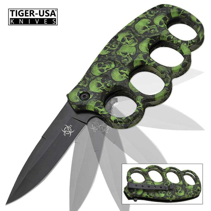 Matrix Extreme Undead Assisted Opening Trench Folding Knife Green