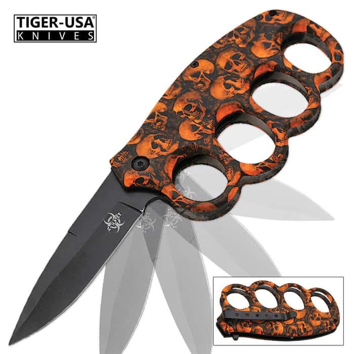 Matrix Extreme Undead Assisted Opening Trench Folding Knife Orange