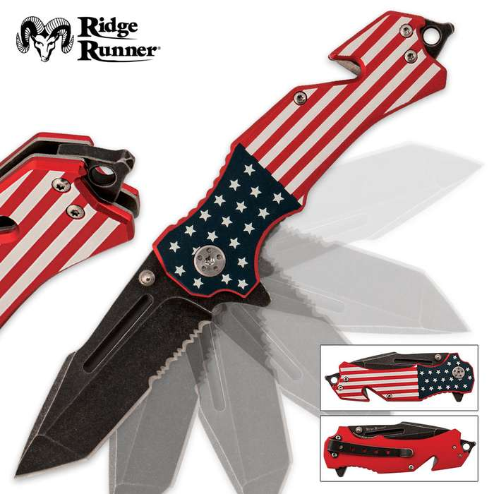 American Flag Pocket Knife