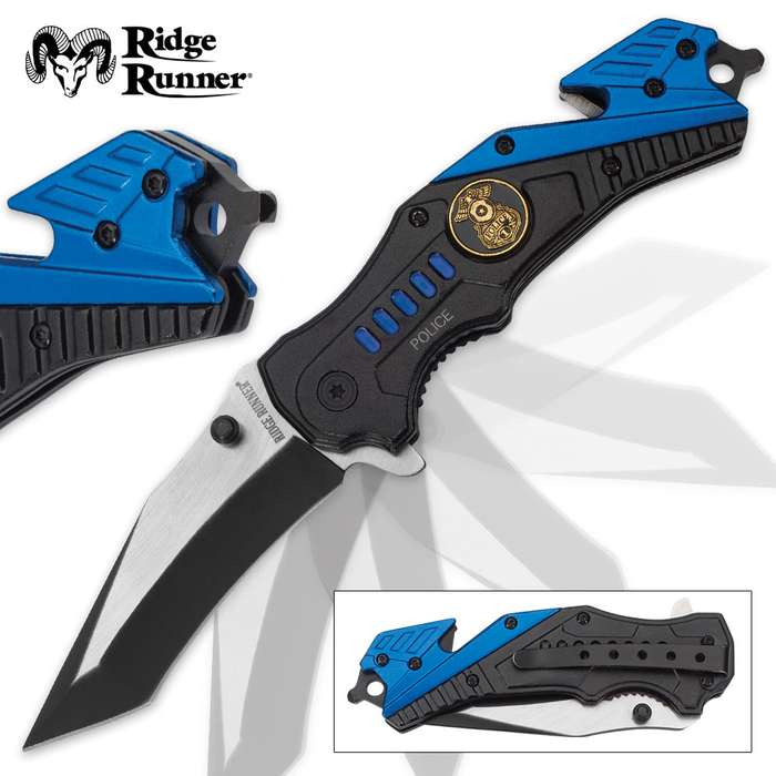 Ridge Runner Police Everyday Carry Assisted Opening Tanto Pocket Knife