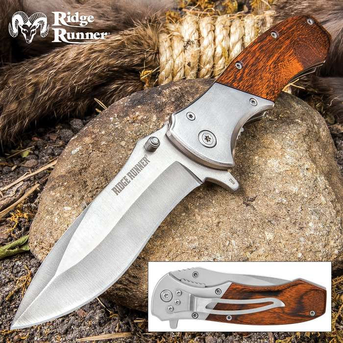 Ridge Runner Cattleman Traditional Assisted Opening Pocket Knife