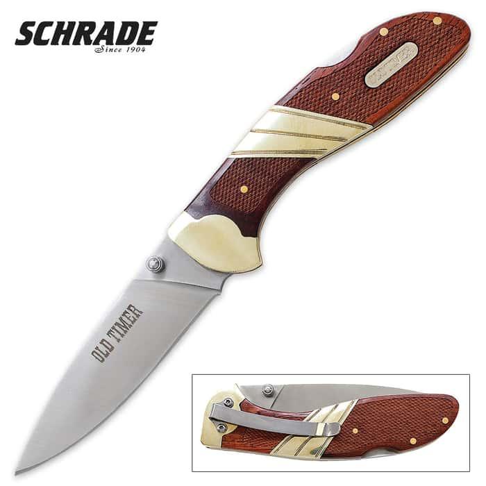 Schrade Old Timer Large Lockback Clip Pocket Knife