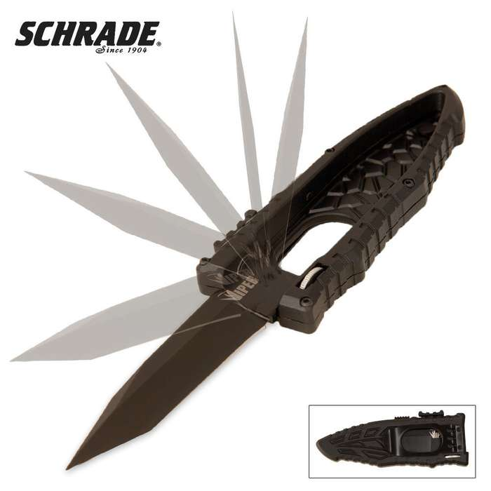 Schrade Viper Assisted Opening Pocket Knife Tanto