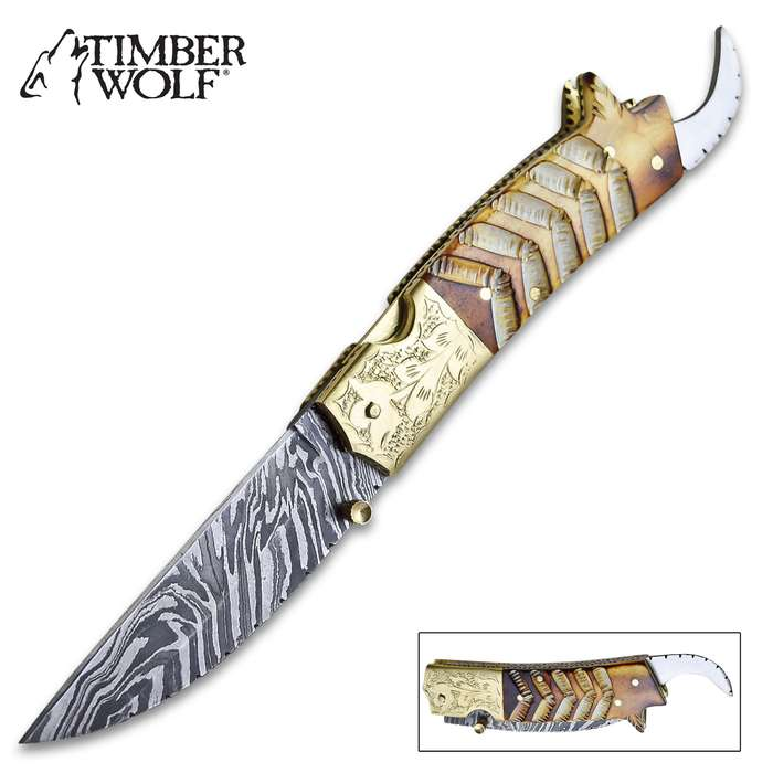 One of the most uniquely, striking design that Timber Wolf has ever released, the Scorpion Pocket Knife is a knife collector's dream!