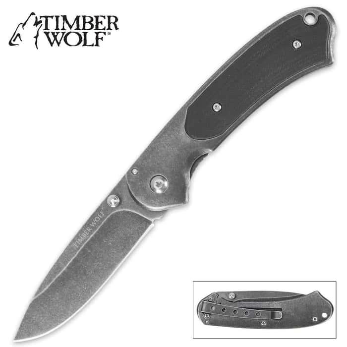 Timber Wolf Executive Stonewash Pocket Knife