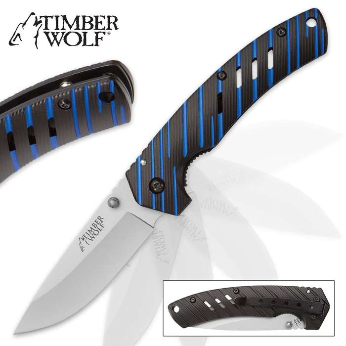 Timberwolf Blue Streak Pocket Knife
