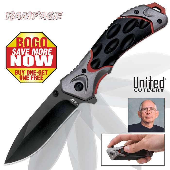 Rampage Assisted Opening Pocket Knife - BOGO