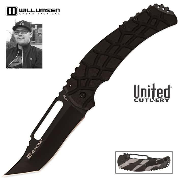 Mikkel Willumsen Blondie Framelock Pocket Knife Black Blade