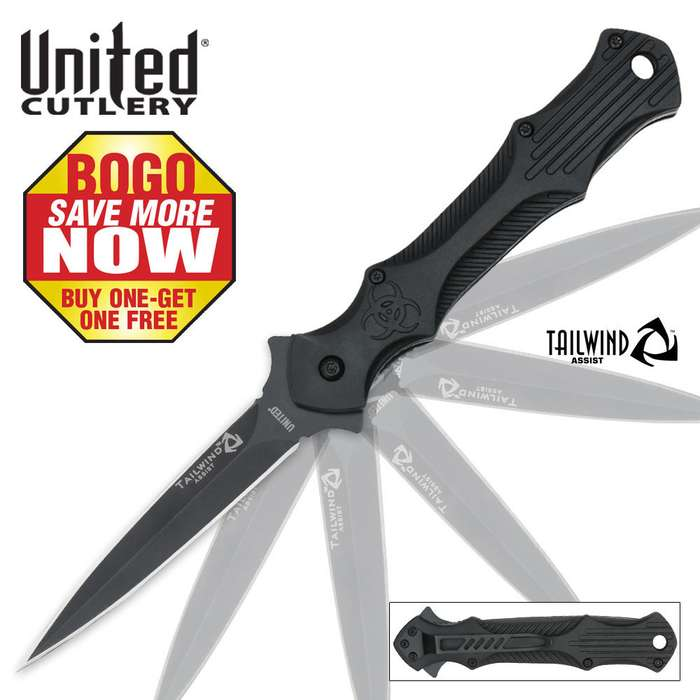 Tailwind Urban Tactical Stiletto Spear Point 2 for 1