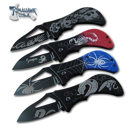4 Piece Fantasy Folding Knife Set