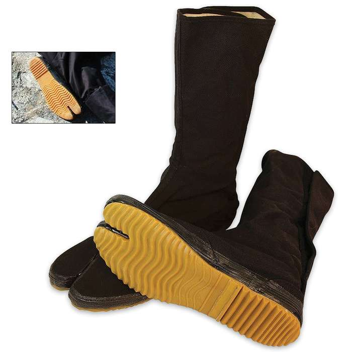 Traditional Ninja Tabi Boots with Split Toe Size 10