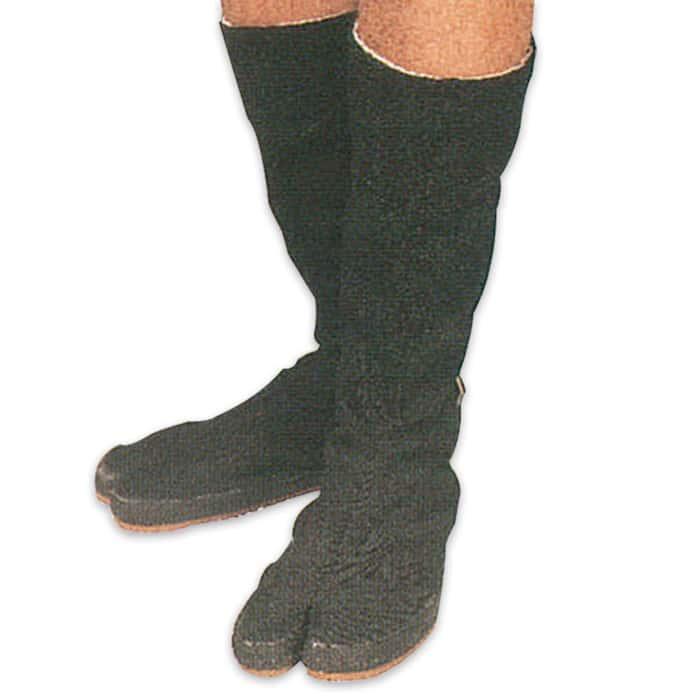 Traditional Ninja Tabi Boots with Split Toe Size 9