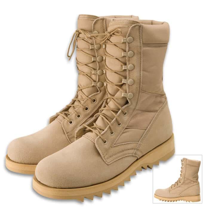 Desert Tan Jungle Boots