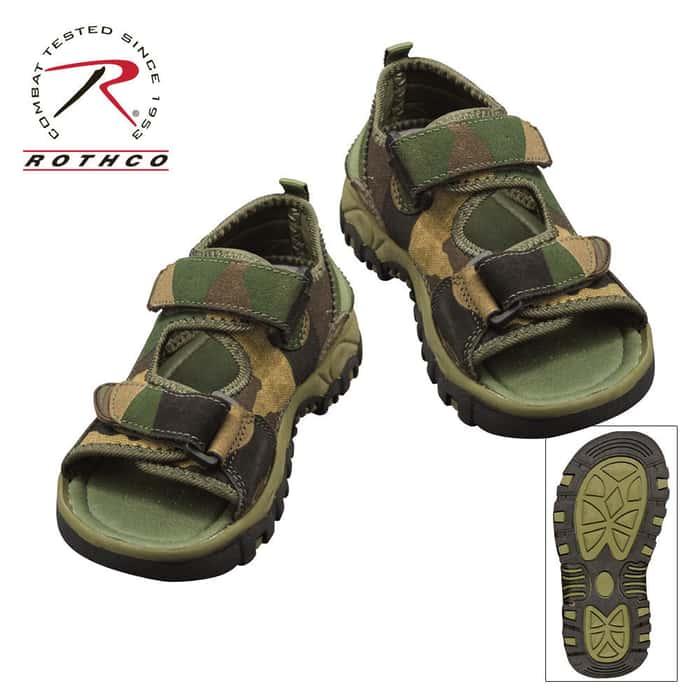 Hiking Sandals Woodland Camo