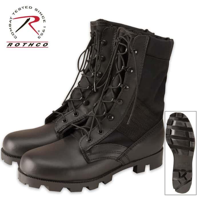 Black GI Type Cordura Nylon Speedlace Jungle Boots