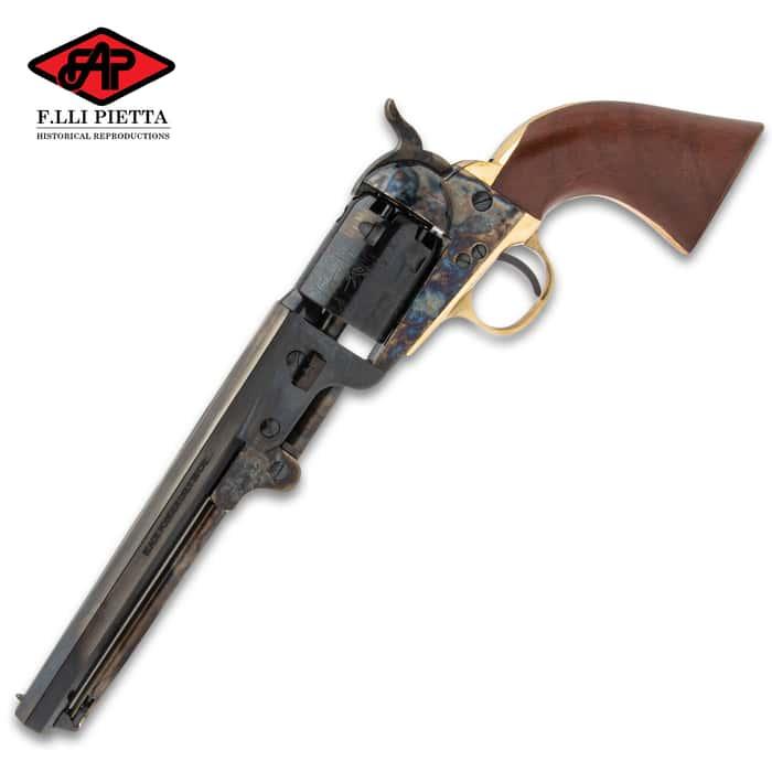 "Replica 1851 Navy Black Powder Pistol - Accurate Replica, Casehardened Steel Frame, .36 Caliber, 7 1/2"" Barrel"