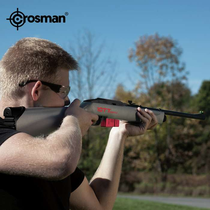 Crosman FreeStyle Multi-Shot Semi-Auto CO2 Air Rifle - Rifled Steel Barrel, Synthetic Stock, 12-Shot Rotary Clip