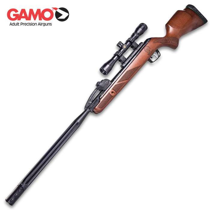 The Gamo Swarm Bone Collector Air Rifle is a great all-around air gun that gives you fast-action shooting and hours of fun