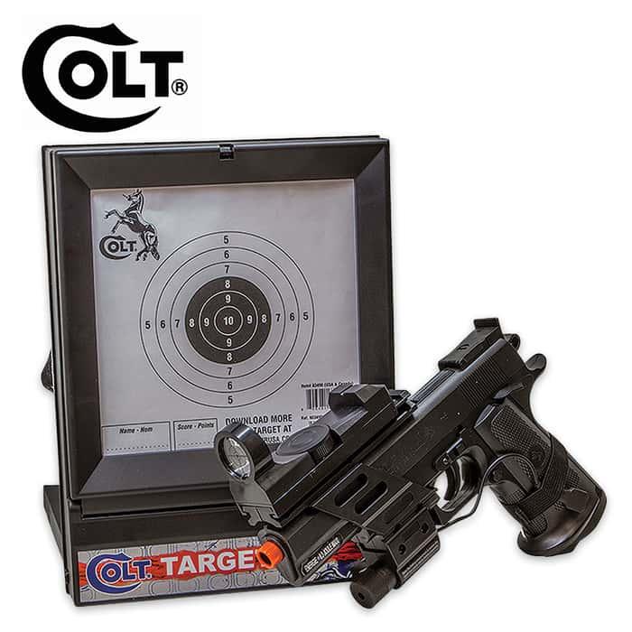 Colt MK IV Spring Pistol With Laser Black