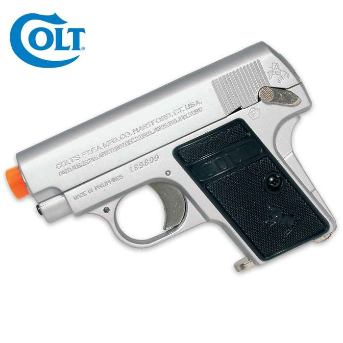 Colt 25 Spring Airsoft Pistol Silver