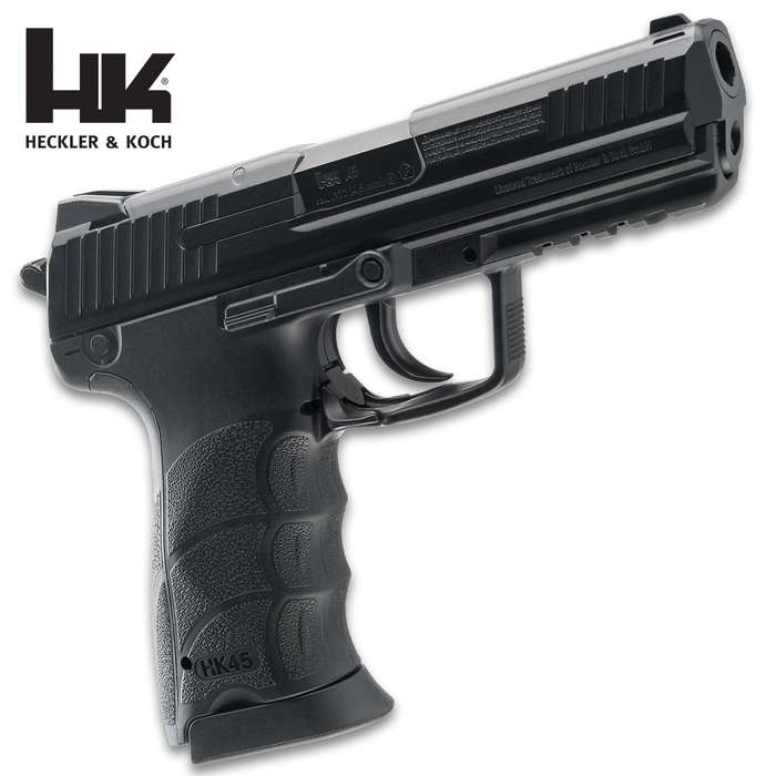The Umarex HK45 Air Pistol is the authentic, licensed replica of the Heckler & Koch HK45 firearm